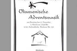 Ökumenische Adventsmusik am 3. Advent!
