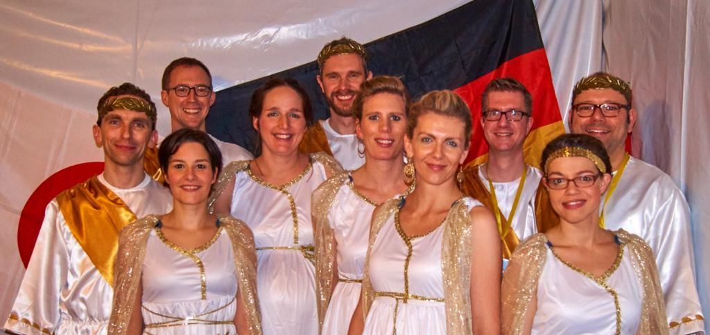 nix Grexit: olympische Freuden bei Motto-Party
