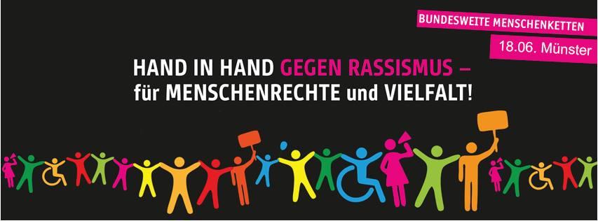 Menschenkette gegen Rassismus am 18. Juni