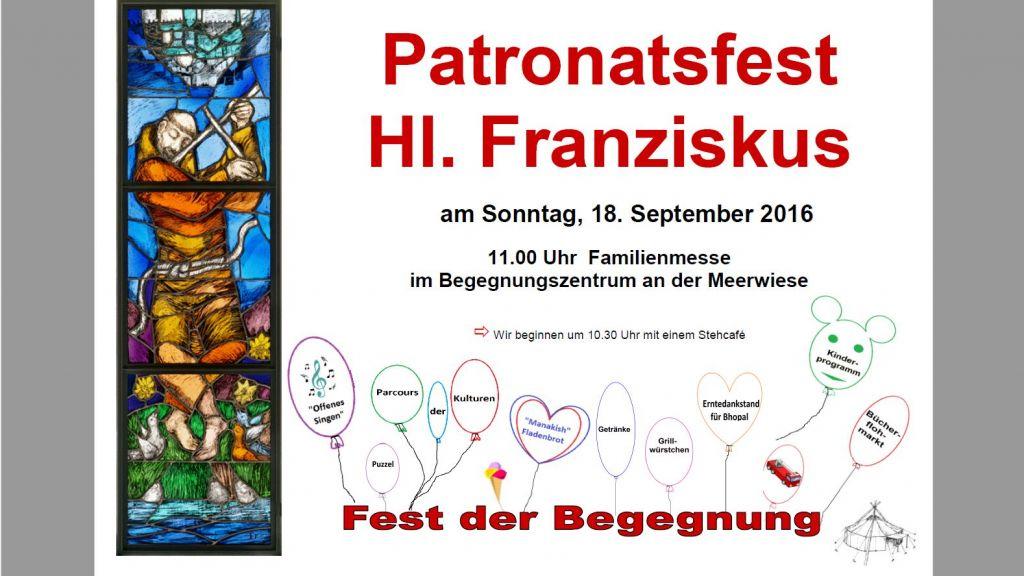 Herzliche Einladung: Patronatsfest am 18.9., Meerwiese