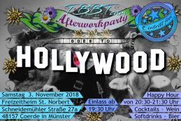 Afterwork-Party am 3. 11.: Franziskus goes Hollywood!