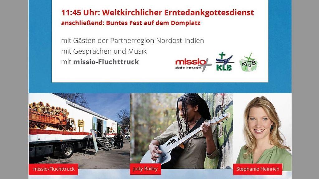 """""""Weltkirchlicher Erntedank"""" und MISSIO-Eröffnung"""